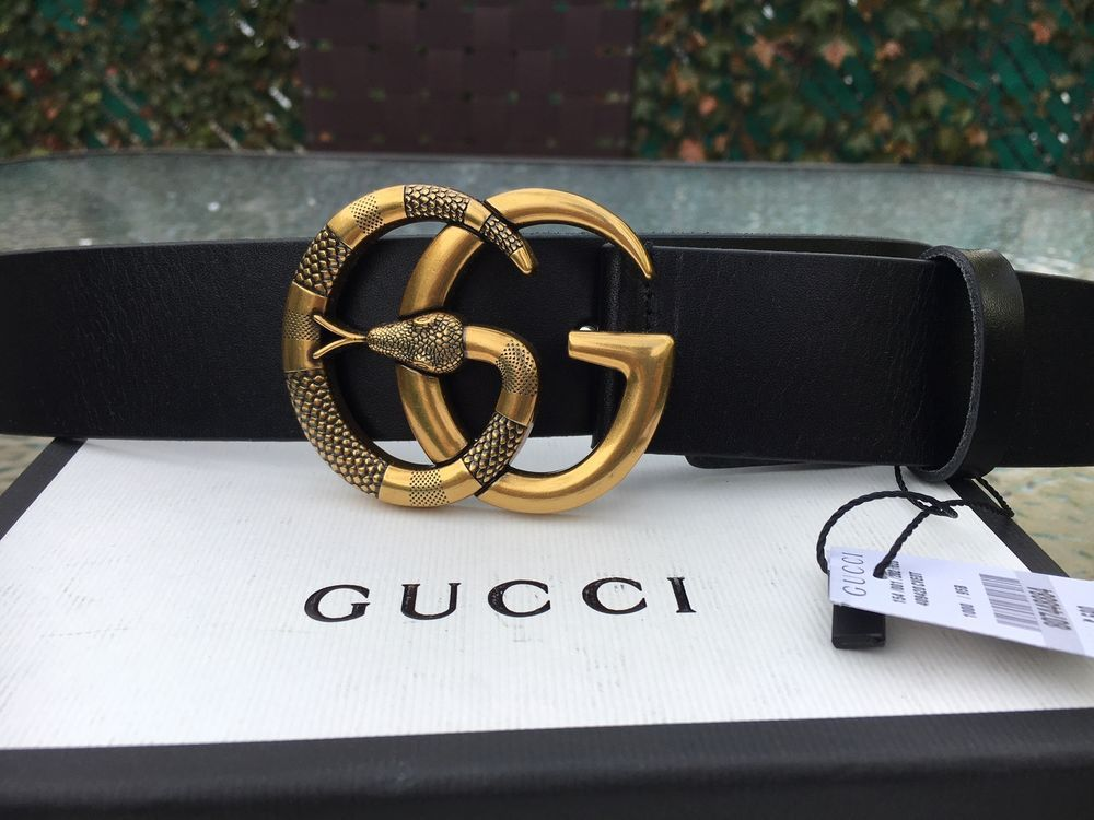 63c9a4486 NWT Authentic Gucci Black Leather Gold Snake GG Buckle Belt 115 cm 40-42  #fashion #clothing #shoes #accessories #mensaccessories #belts (ebay link)