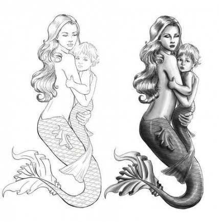 Tattoo mermaid mother mom 47 ideas