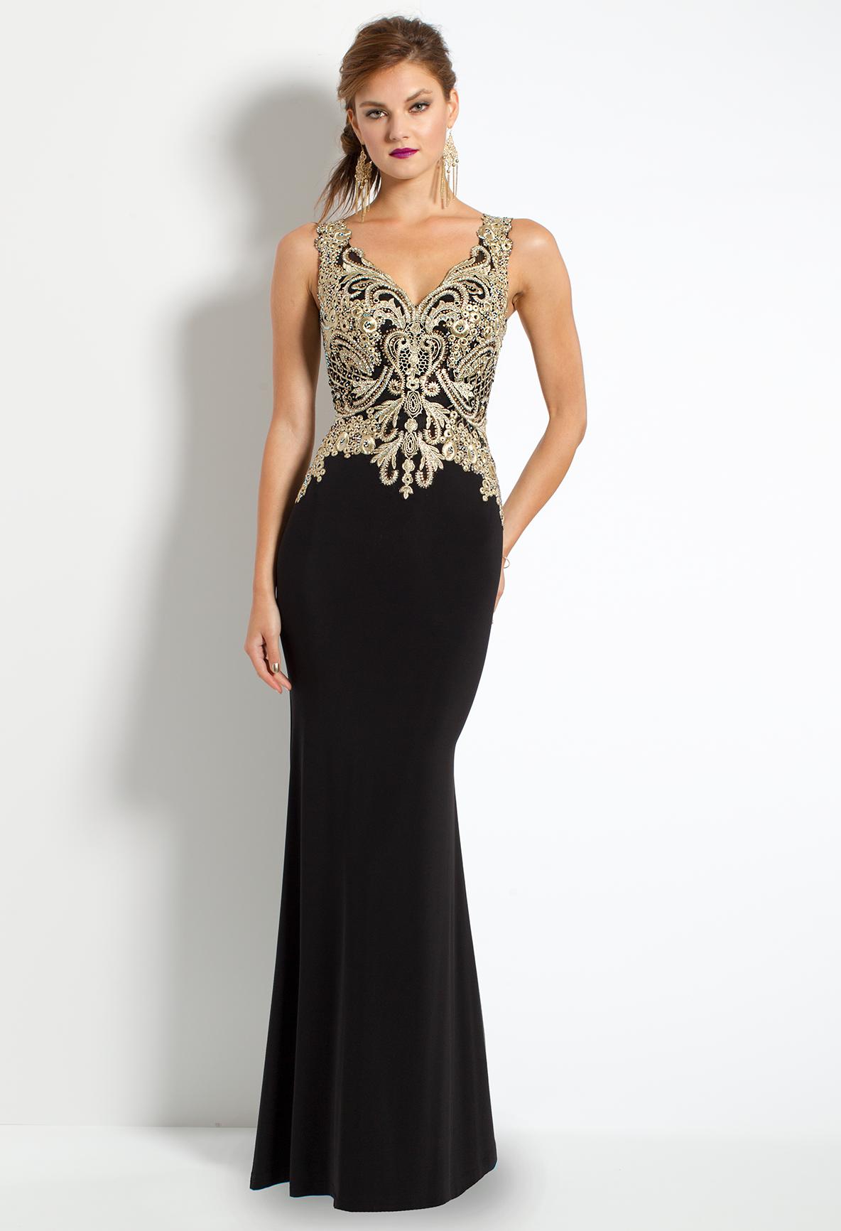 b52348e0d5 Metallic Embroidered Dress  camillelavie