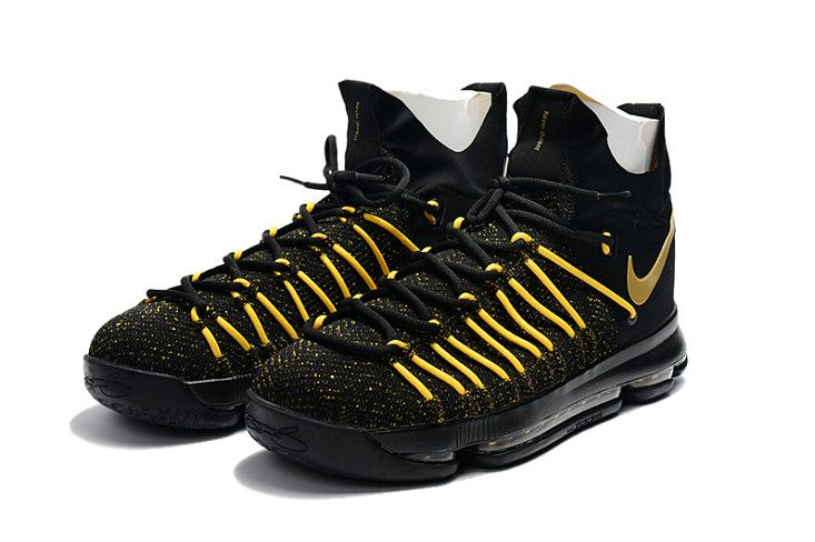 new style 1276f 626b4 KD 9 IX Elite 2017 NBA Playoffs Black Gold Newest Kevin Durant Shoes
