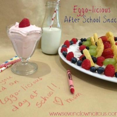 Mini Waffle Fruit Kabobs & Yogurt Dip {after school snack}