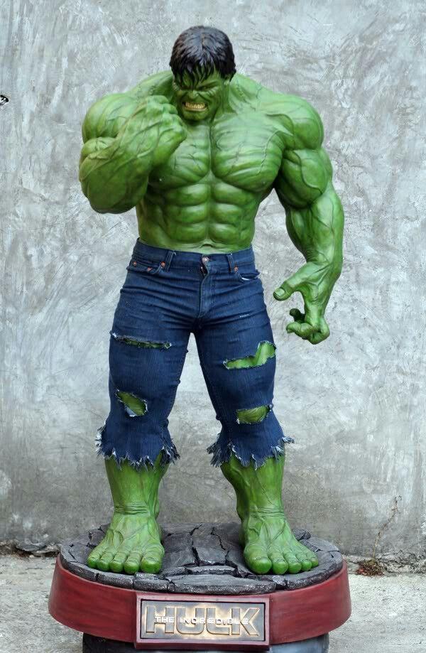 Classic Hulk Custom Mini  Figure!! HULK!