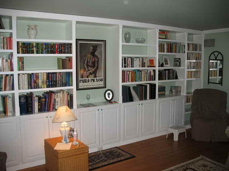 Built In Bookcase Plans: Built In Bookcase Plans Rattan Desk