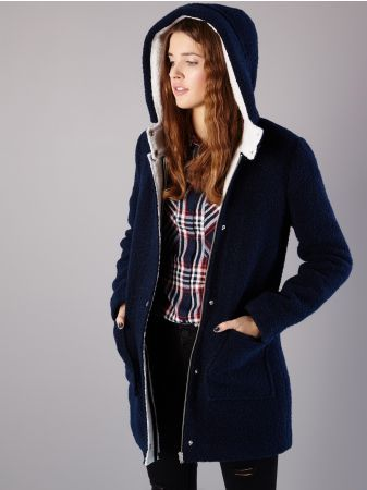 72df77049a SINSAY - HOODED COAT | clothes | Coat, Jackets, Bomber Jacket