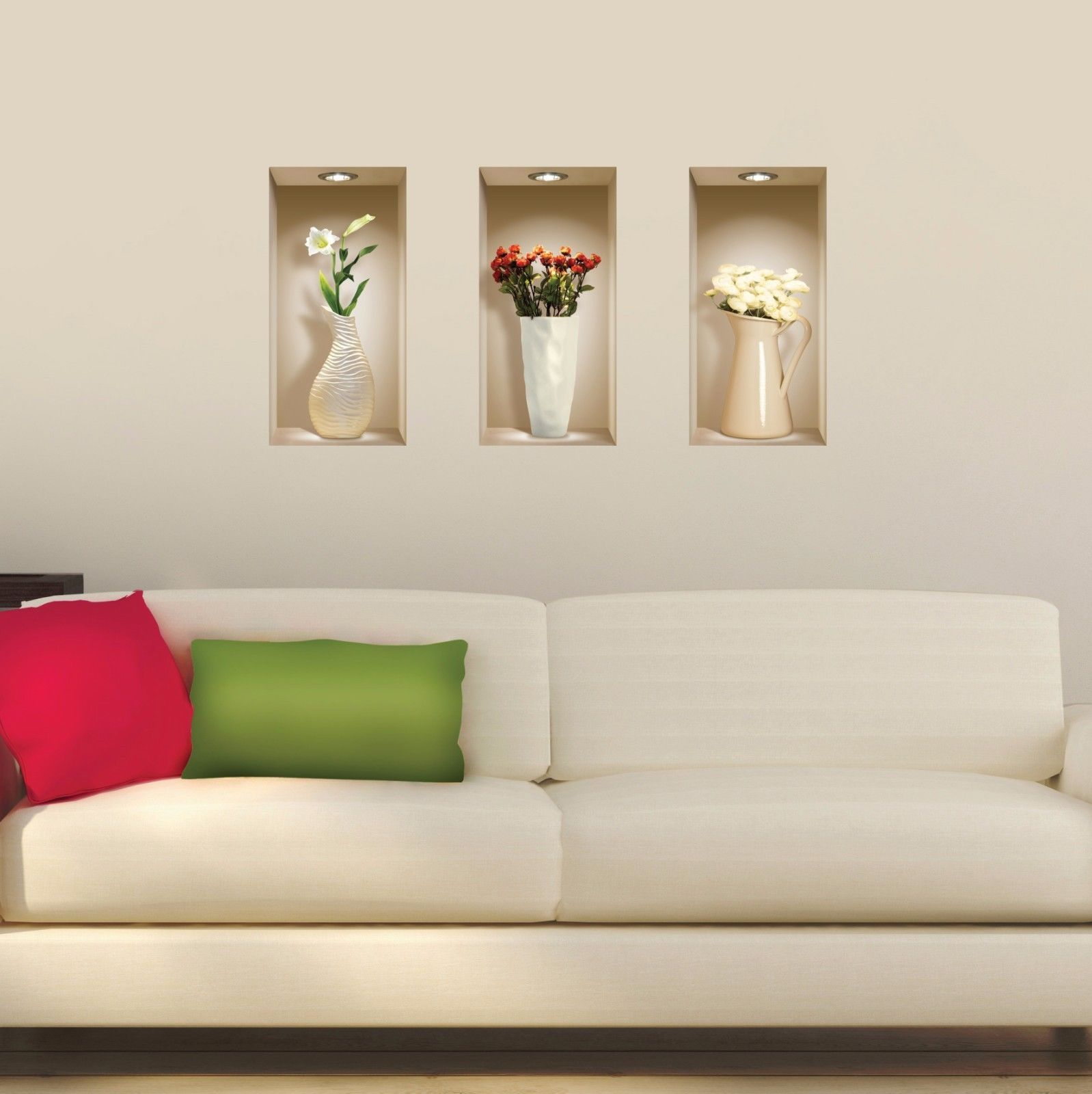 Set art wall stickers magic d picture vinyl removable tile decals