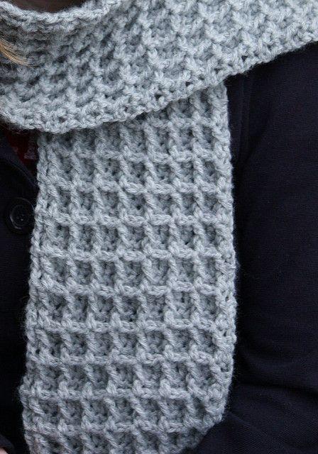 Waffle Stitch Thermal Scarf Pattern By Lion Brand Yarn Crochet