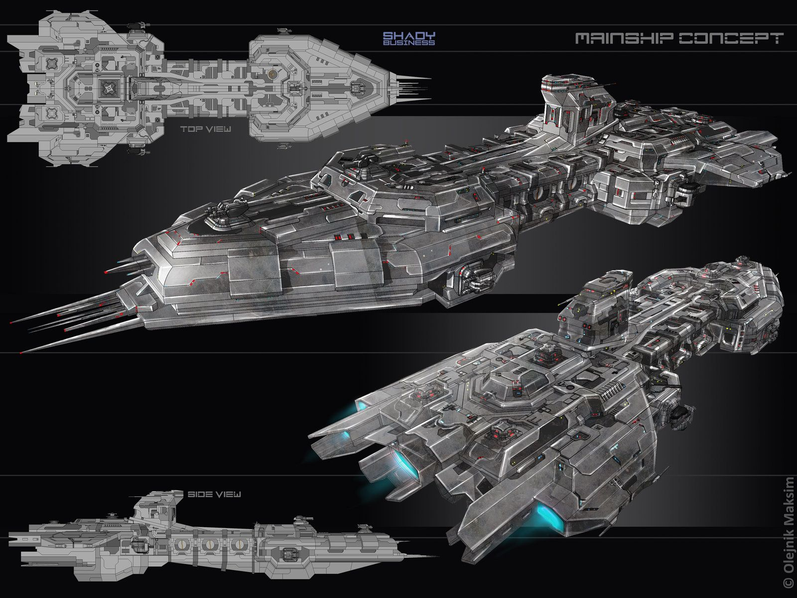 Sci Fi Starships : Spaceship frigate concept art google search space