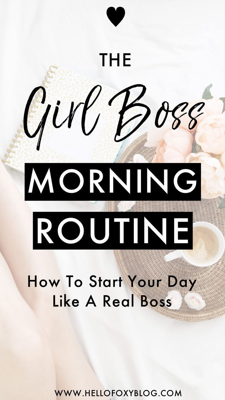 Girl Boss Morning Routine #morningroutine