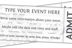 free printable event ticket template to customize pto ideas