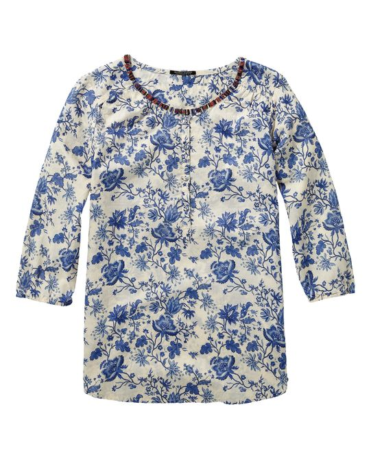 0d285b5c98f Summery tunic with beaded neckline | Woven tops | Woman Clothing at Scotch  & Soda