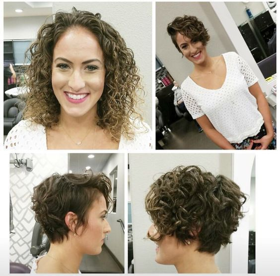 Curly Pixie Cut Before And After Curly And Wavy Hair