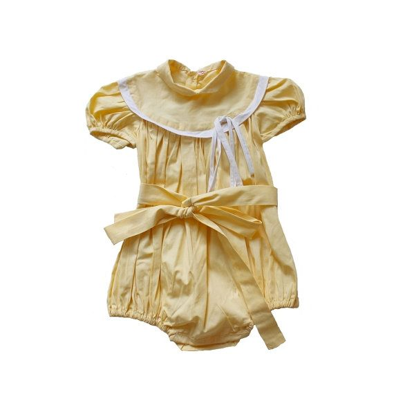 FRENCH VINTAGE 50's / baby playsuit / by Prettytidyvintage on Etsy