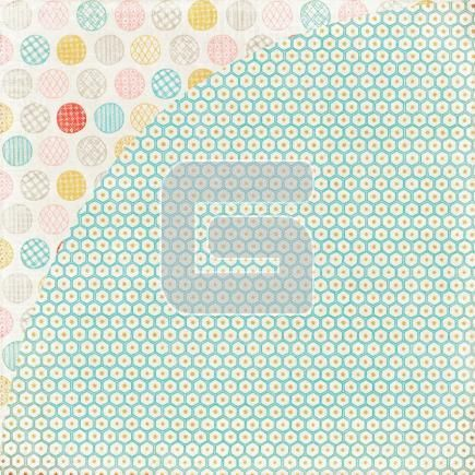 One side hexagons and the other patterned polka dots...win-win {Afghan from Basic Grey's Paper Cottage Collection} #StudioCalicoPinToWin