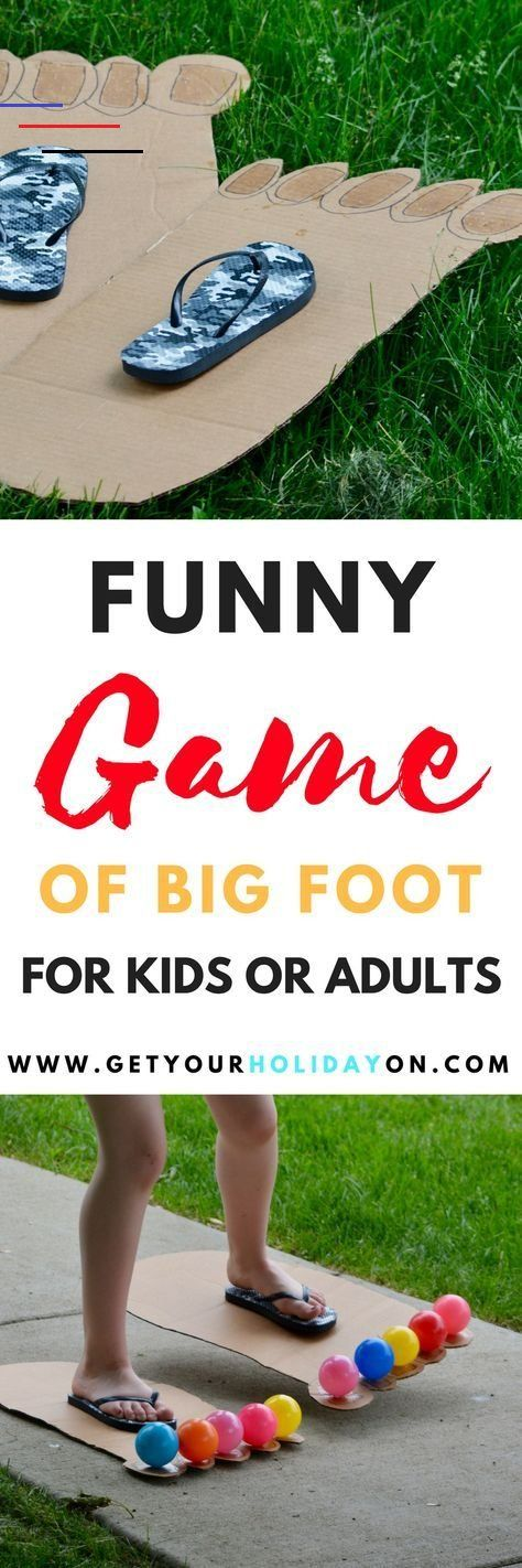 How To Play Hilarious Bigfoot Game Kids or Adults | Get Your Holiday On Hilarious & Funny Bigfoot Game for kids or adults! Play inside or outdoors, at a party, in the backyard, or at a carnival. #diycrafts #partygames #diysummer #parenting<br> Hilarious Bigfoot game! Even the Sasquatch himself would be ready to take off in these two left-footed feet! Kids &adults will be tickled by this fun game!