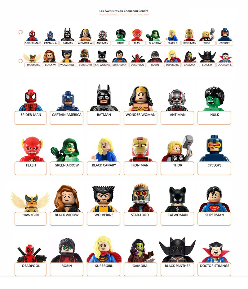 qui est ce imprimer super heroes marvel dc lego guess who printables lego lego marvel. Black Bedroom Furniture Sets. Home Design Ideas