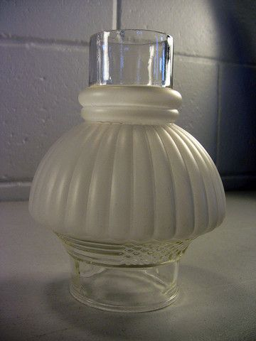 Vintage Frosted Clear Pressed Glass Oil Lamp Hurricane Chimney Shade – EclectiquesBoutique.com