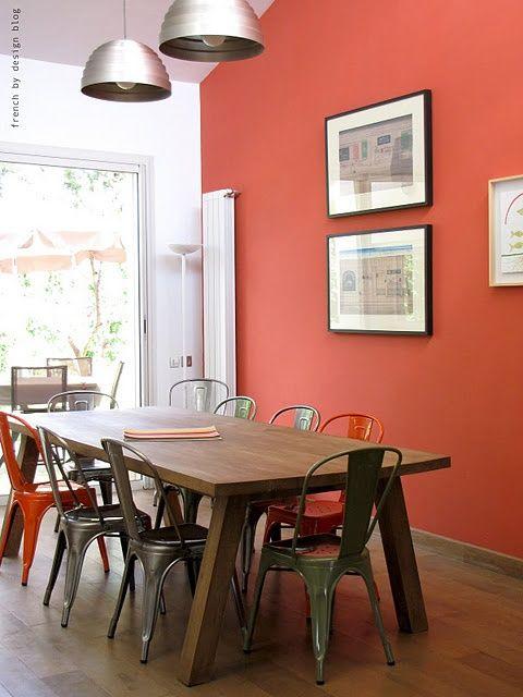 Oranje muur in je interieur | Interieur blog | Pinterest - Interieur ...