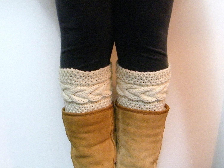 Free Boot Cuff Knit Pattern | Grace Cable Boot Cuffs Knitting ...