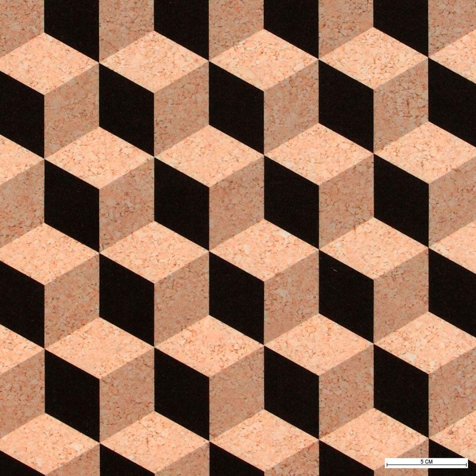 Moderne Stoffe mikrofaser kork schwarz würfeldruck stoff stil fabric design