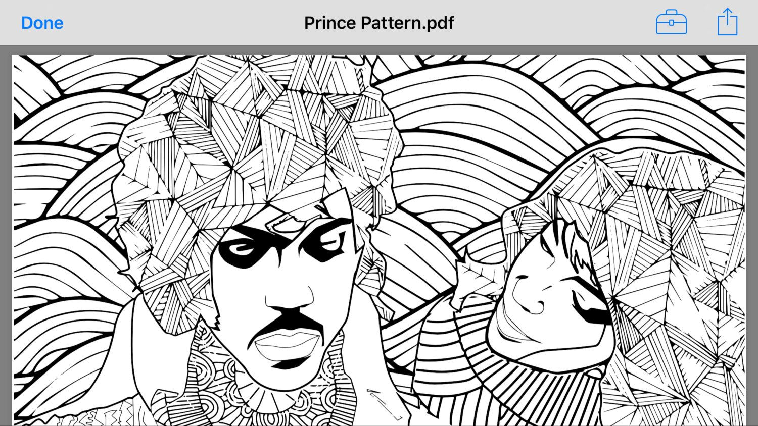 prince coloring page pdf by designtherapyart on etsy phoeva