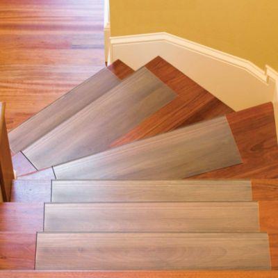 Beau Vinyl Stair Treads 24u0027 Clear