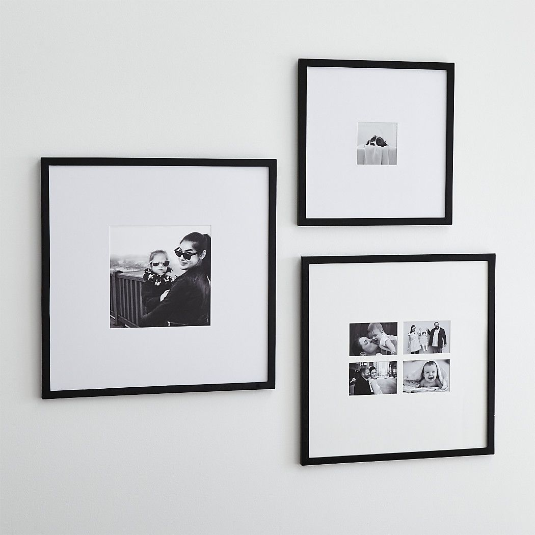 Icon Black Wall Frames Crate And Barrel In 2020 Frames On Wall Picture Frame Decor Black Framed Wall Art