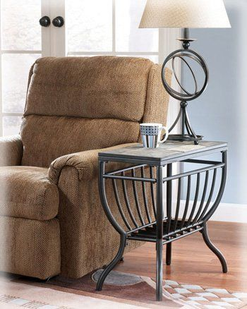 End Table With Lamp Attached Accent Furniture Living Room