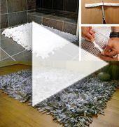 Faire un tapis avec des chutes de tissu ou comment recycler du tissu #chutedetissu Faire un tapis avec des chutes de tissu ou comment recycler du tissu #chutedetissu