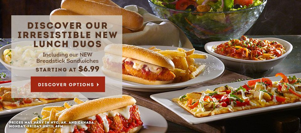 olive gardenlunch duos at olive garden featuring new breadstick sandwiches 66 n rte 17 ramsey nj 07446 - Olive Garden Lunch Duos