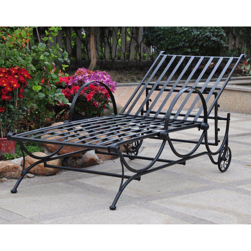 Outdoor International Caravan Wave Adjustable Chaise Lounge Black - 3475-SGL-ANT-BK