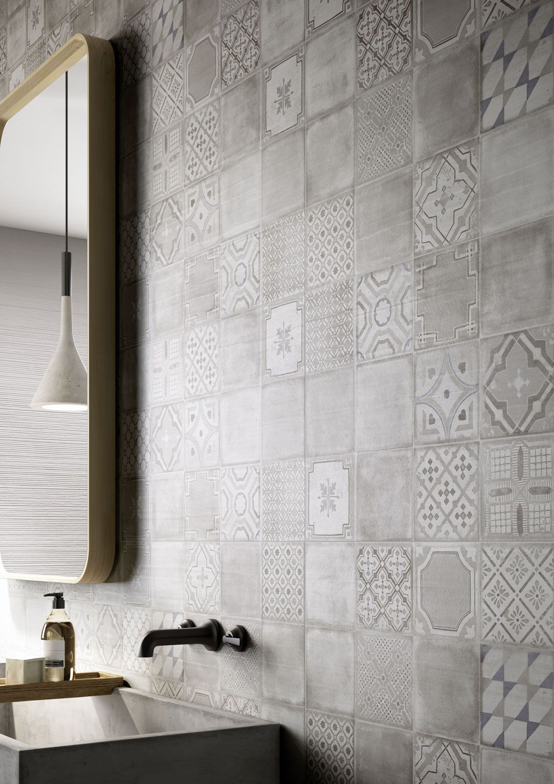 Materika  Satin Concrete Effect Wall Tiles  Marazzi Magnificent Kitchen Wall Tile Decorating Inspiration