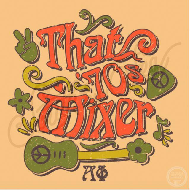 That 70s Mixer   Alpha Phi   Retro Design   Throwback
