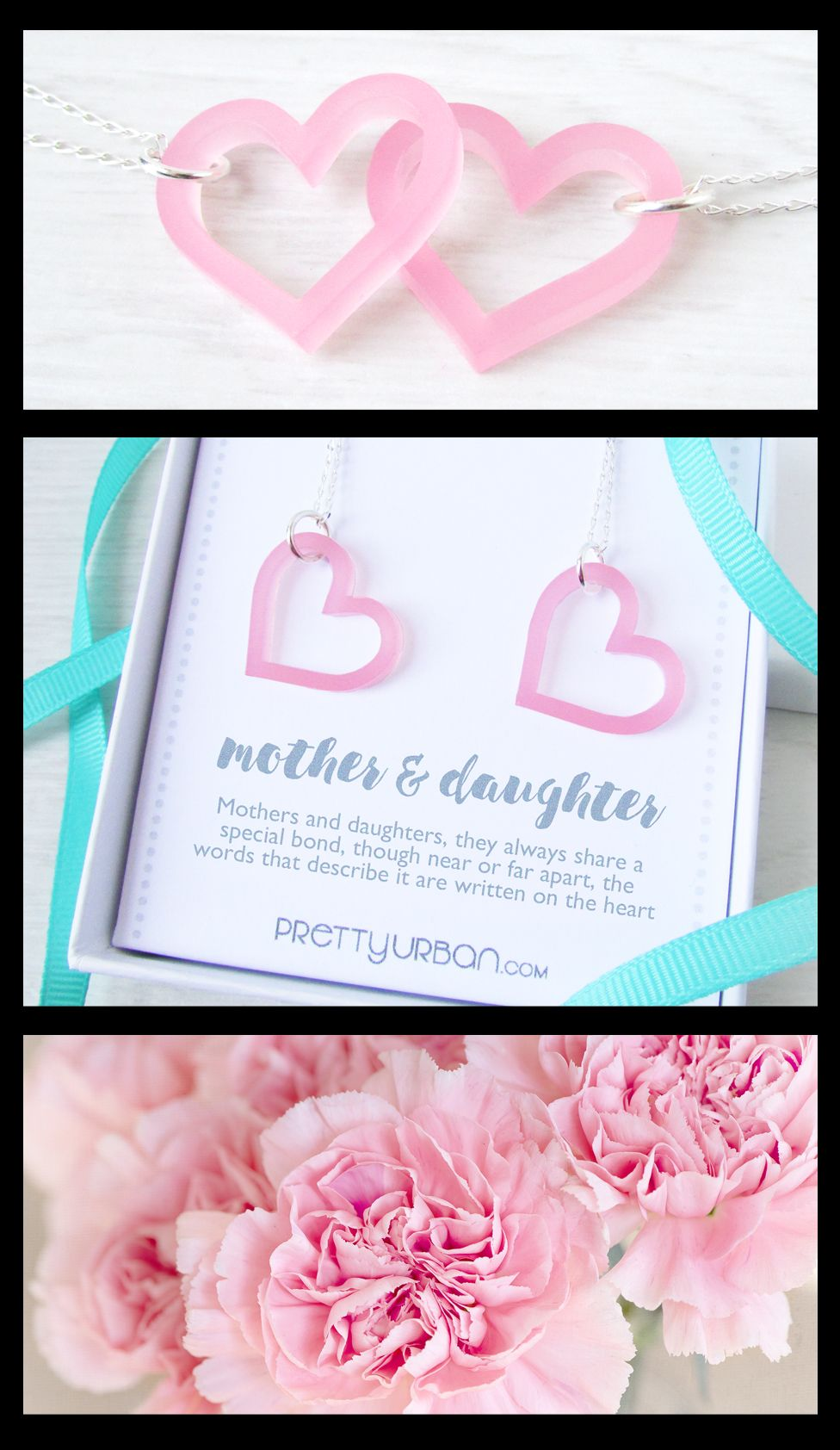 Mother daughter necklace set mothers day gift mommy