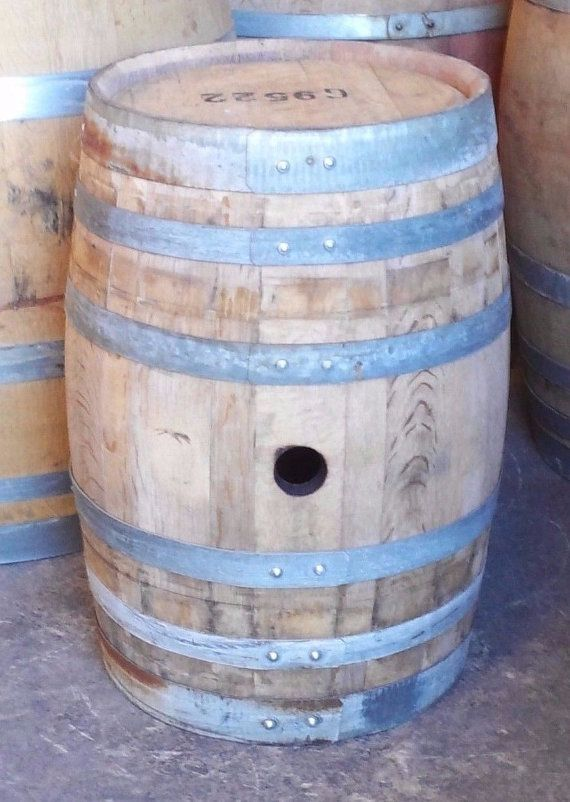 20 Gal. Oak Barrel for display side table by winebarrelcreation