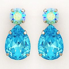 Sorrelli Emerald Coast Earrings. Ocean blue crystal teardrop earrings stunning color. A day to night earring to brighten any occasion.