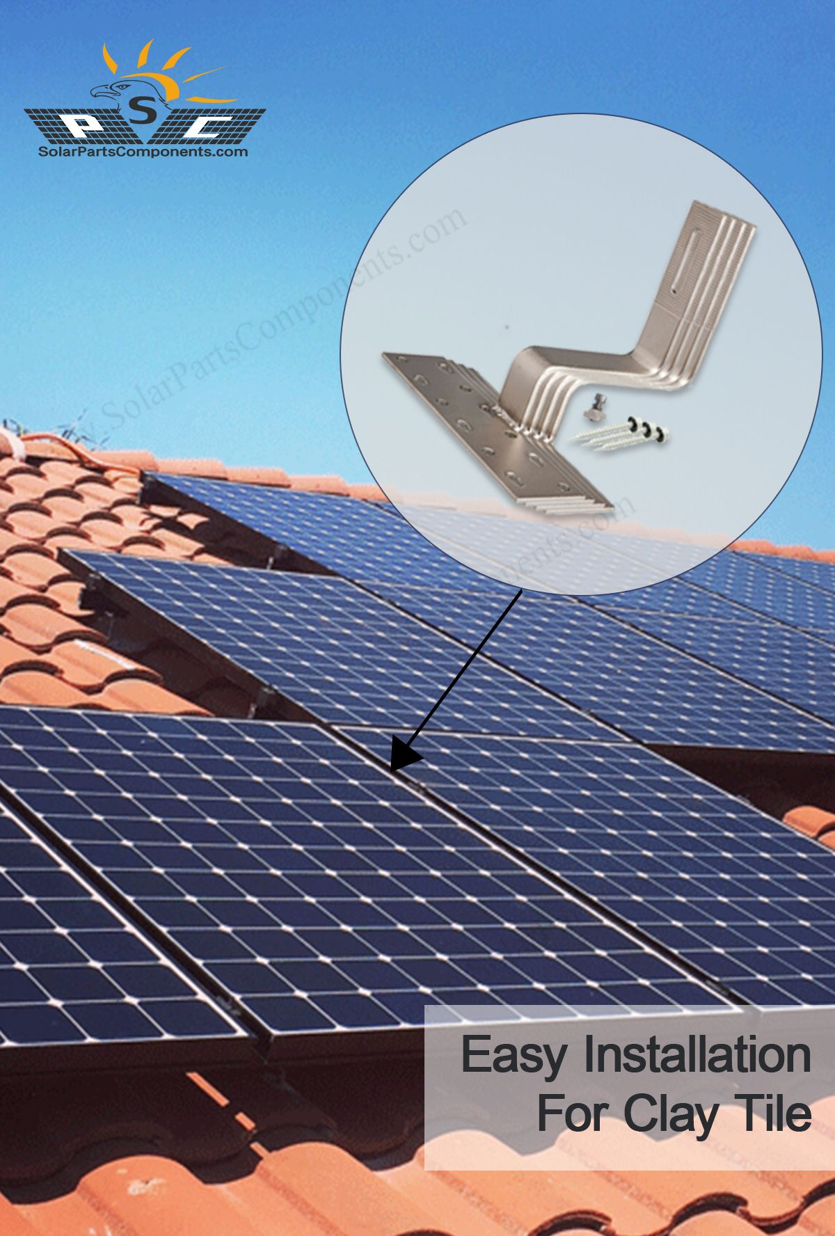sus304 hook for solar clay tile mount