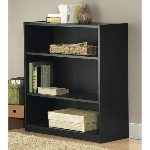 Mainstays 31 3 Shelf Bookcase Black Walmart Com Bookcase 3