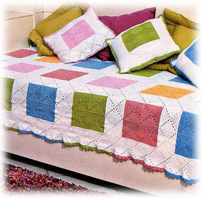Soniando...: Colcha colorida em quadrados de crochet