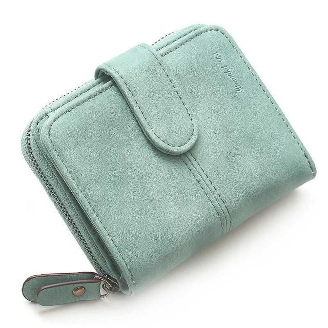 d8a83be70 OTHERCHIC Nubuck Leather Women Short Wallets Ladies Fashion Small Wallet  Coin Purse Female Card Wallet Purses Money Bag
