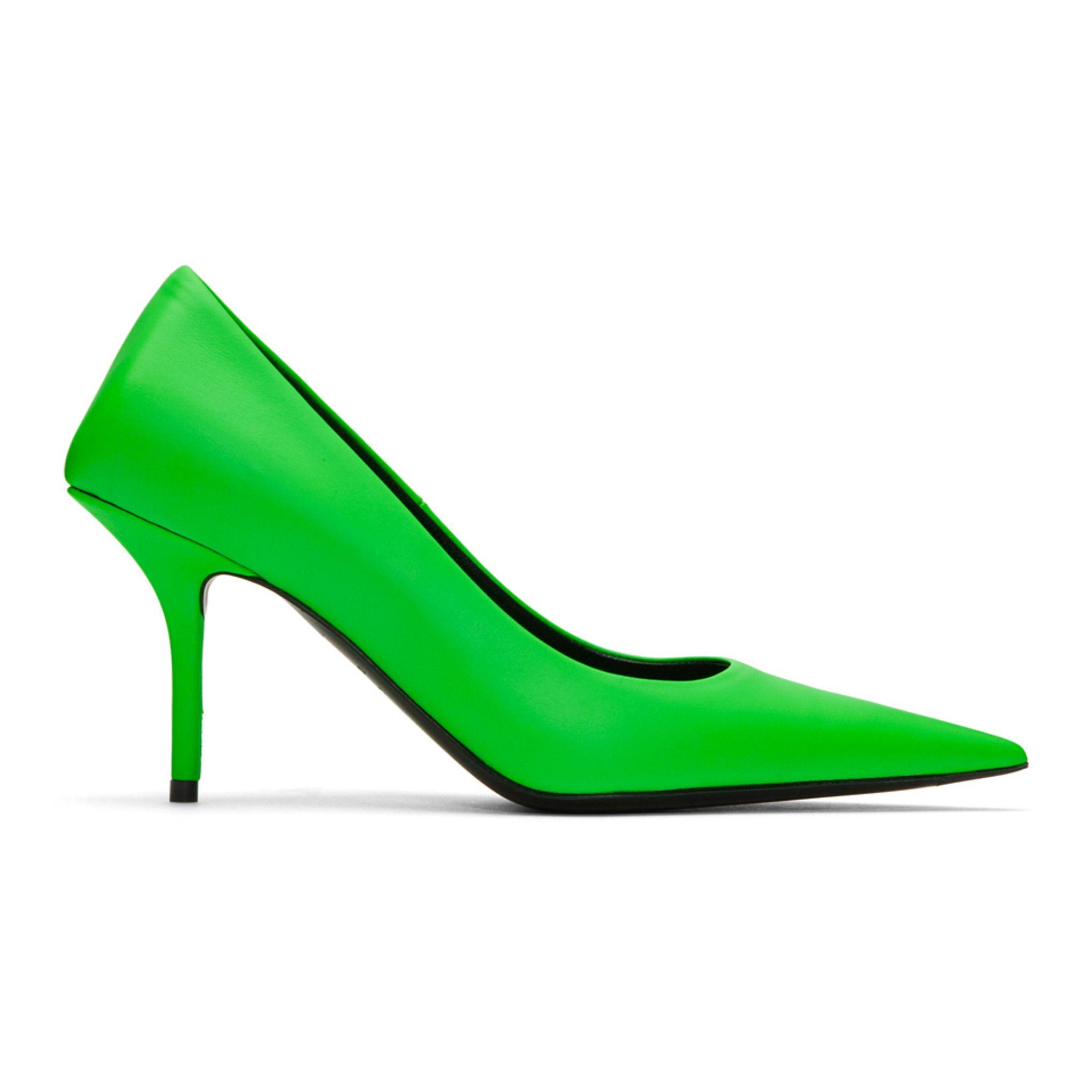 Balenciaga - Green Square Knife Heels