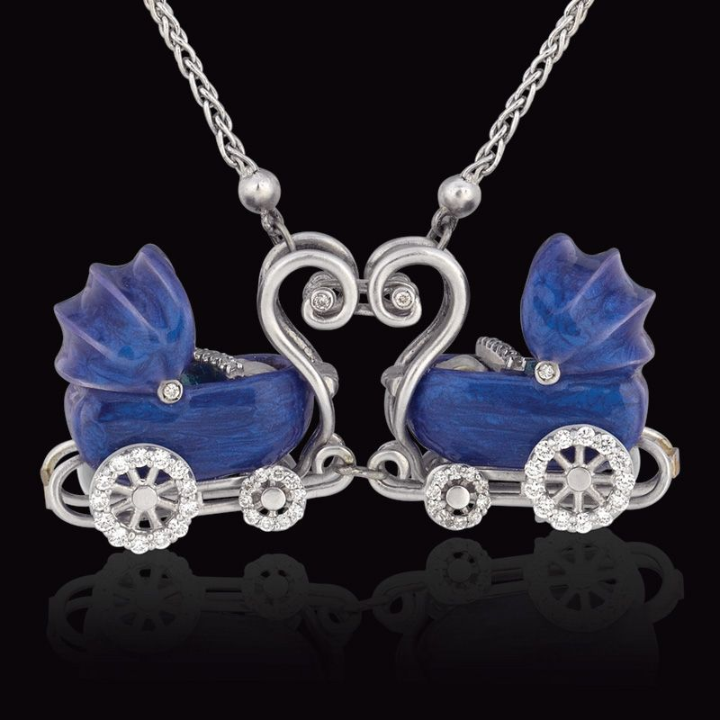 Prediletto   Double Baby Pram Necklace The Perfect Push Present for
