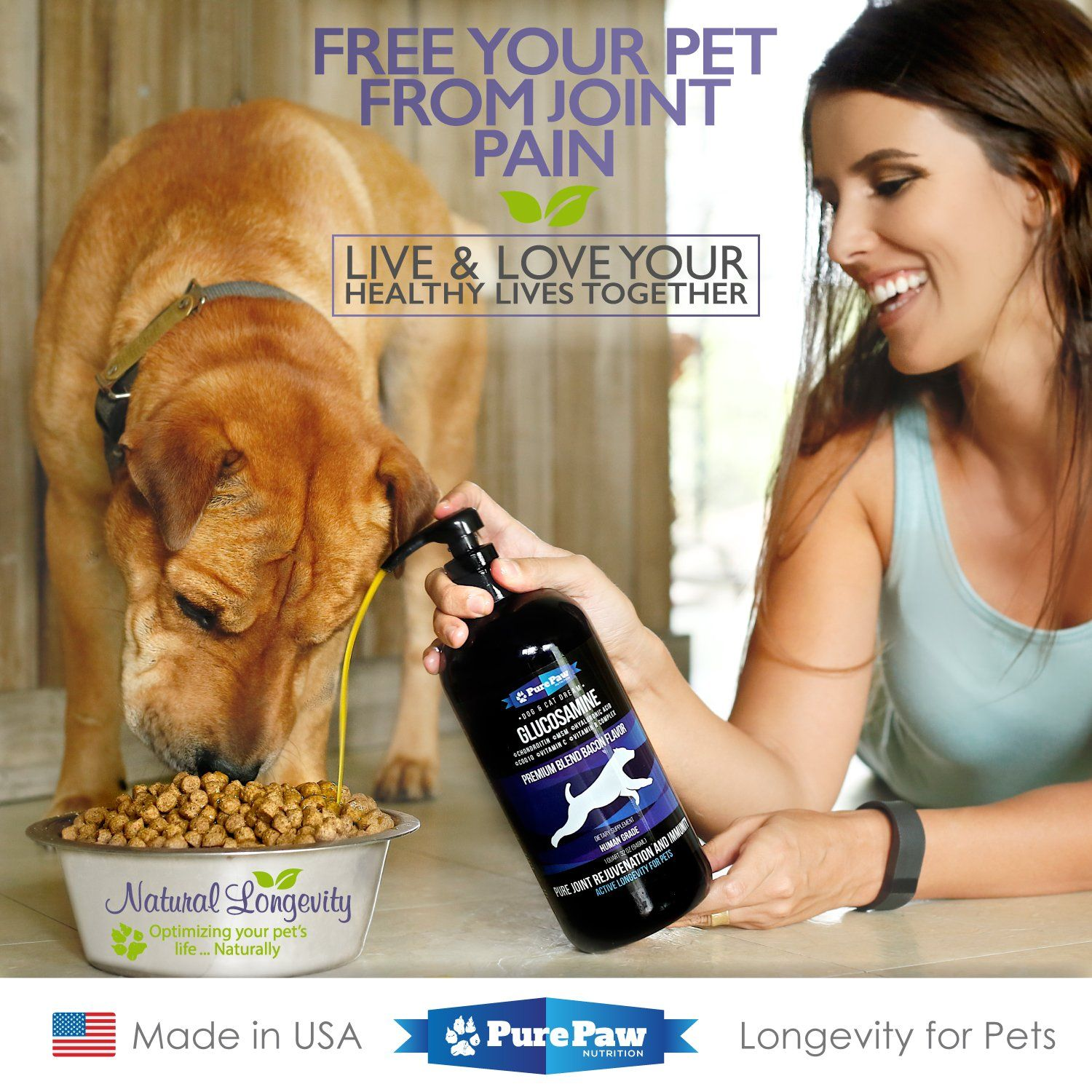 Glucosamine for Dogs and Cats Premium Liquid Food