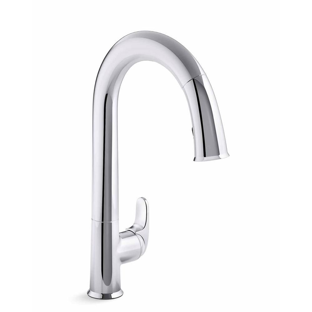 Kohler Sensate Single Handle Pull Down Sprayer Kitchen Faucet With Konnect In Polished Chrome Faucet Touchless Faucet Polished Chrome