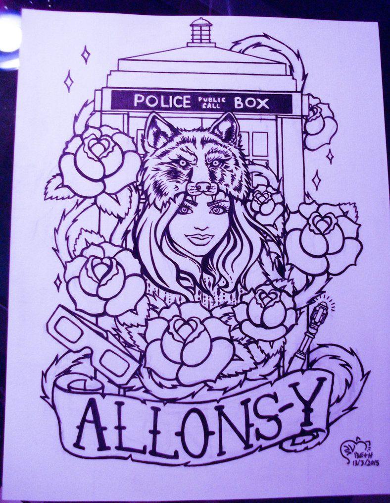 Doctor Who Tattoo Design by BethanyBrazeau