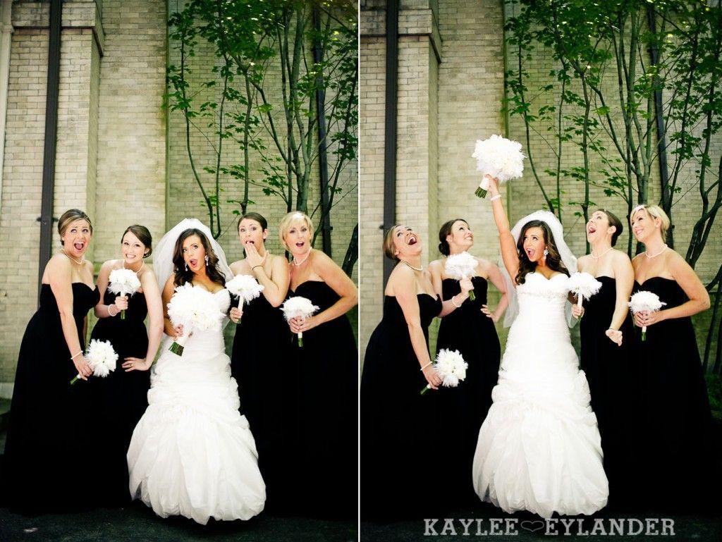 Black bridesmaids dresses w white bouquets st james cathedral black bridesmaids dresses w white bouquets st james cathedral seattle kaylee eylander ombrellifo Choice Image