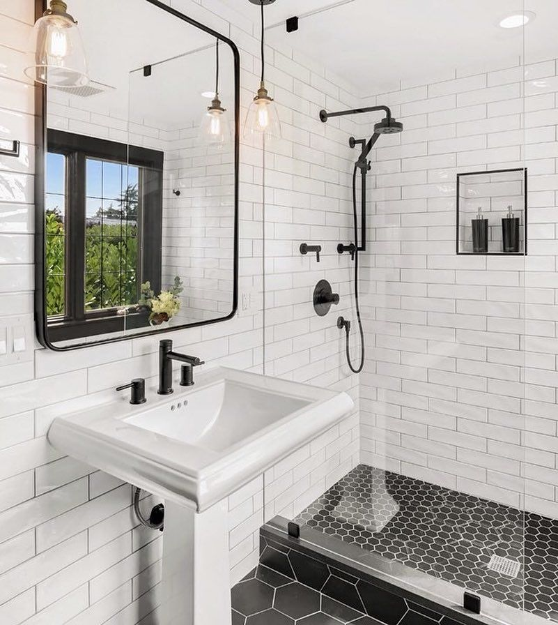 Zen Bathroomdesign Ideas: Bathrooms Of Instagram On Instagram: Hello Black & White