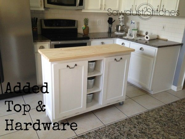Cabinet Transformed Into A Kitchen Island Sawdust 2 Stitches Diy Kitchen Island Diy Kitchen Cabinets For Sale