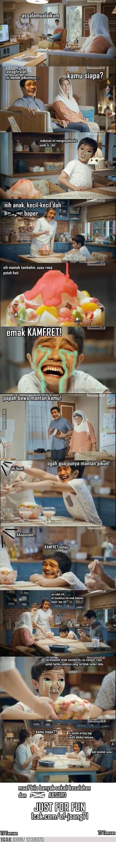 Iklan Susu Bendera Versi 1cak Meme Indonesia Lucu V V Pinterest