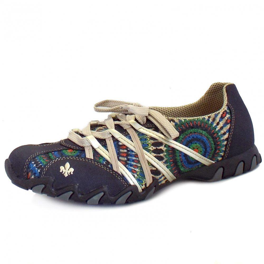 Rieker Toulon Ladies Training Shoe in Blue | Training shoes