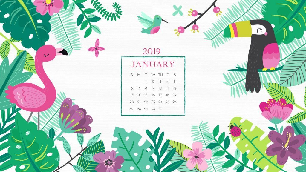 January 2019 Desktop Calendar Wallpaper Wallpapers In 2019